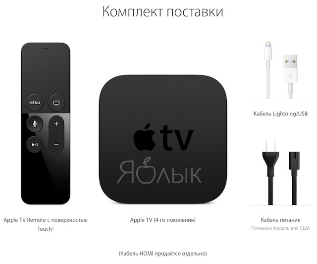 Комплект Apple TV